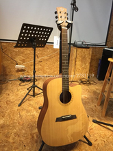 Free shipping 41 Acoustic Guitar,Solid Spruce Top/Mahogany Body,Twelve constellations carving, guitars china With Hard case цена