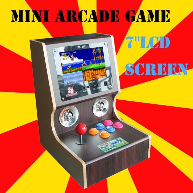 Cdragon 7 tommer rocker hjem arkade spil maskine Mini Arcade Spilkamp spil logs