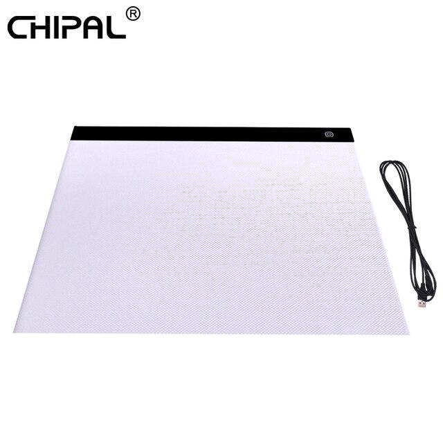Цифровой планшет для рисования CHIPAL A3 со светодиодный Ной подсветкой, доска для копирования, графические планшеты, художественная живопись, блокнот для рисования, анимация