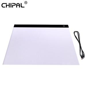 Image 1 - CHIPAL tablette graphique numérique A3, avec boîte à lumière LED 000 caractères, carte de copie, peinture artistique, écriture, Animation, croquis