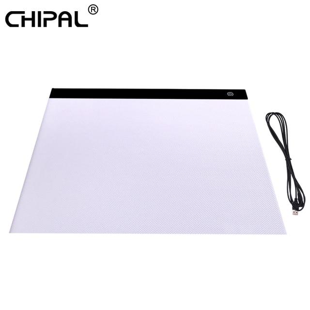 CHIPAL tablette graphique numérique A3, avec boîte à lumière LED 000 caractères, carte de copie, peinture artistique, écriture, Animation, croquis