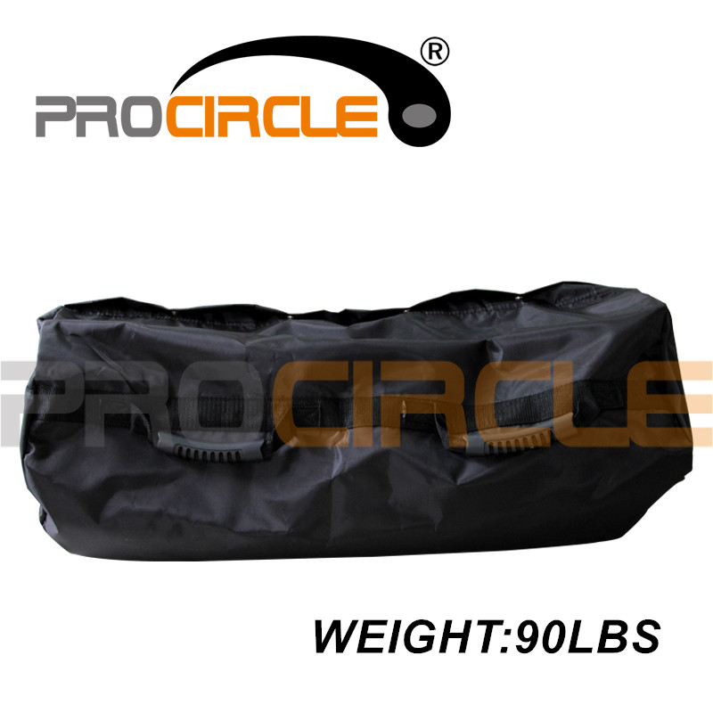 Procircle 90LBS Punching Bags with Straps Fitness Training Black Nylon Power Bag Sand Bag for Boxing Super Quality army green red empty kick boxing bag training fitness punching bag saco de boxeo hook hanging mma fight sandbag empty gloves