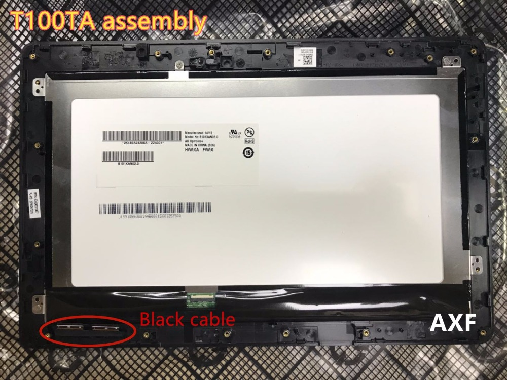 Used,For ASUS Transformer Book T100 T100TA Touch Screen Digitizer with full LCD Assembly with frame Parts Black flex cable планшет asus transformer book t100ha