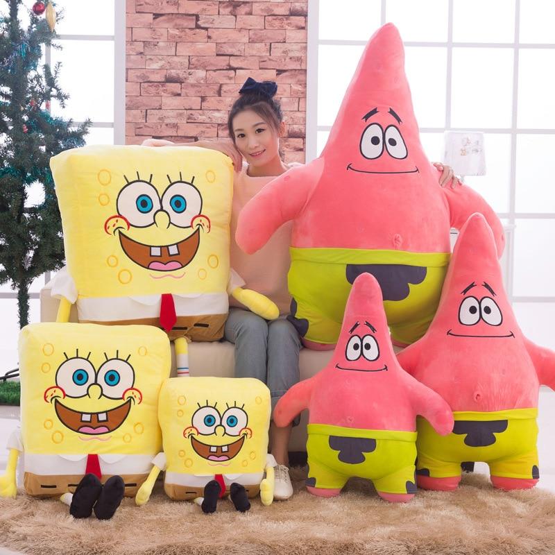 New Kids Soft Stuffed Animals Sponge Bob Plush Toys Baby Pillow Animal Cartoon Doll Cotton Cushion Christmas Gifts For Children