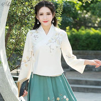 Traditional chinese top chinese hanfu clothes oriental clothing traditional chinese clothing for women long tops CC383