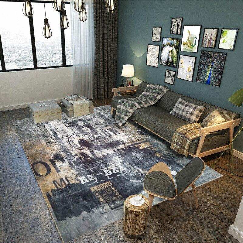 Tapis de sol européen méditerranéen/tapis pour salon salle d'étude table basse tapis chambre Rectangle tapis personnalisable
