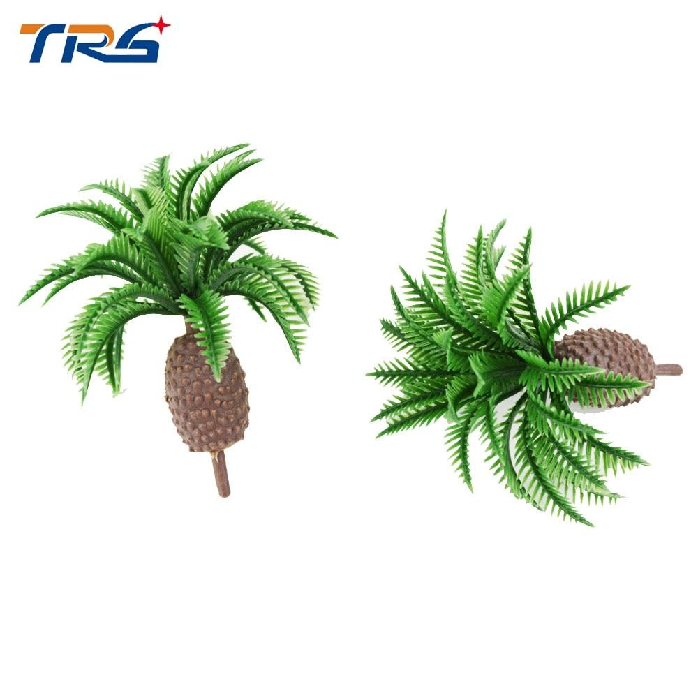 Teraysun 5cm scale model train railway scenery palm tree