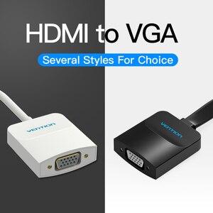 Image 2 - Przewód przedłużający adapter HDMI do VGA cyfrowego na analogowy konwerter wideo audio kabel 1080p dla konsoli Xbox 360 PS3 PS4 PC Laptop TV, pudełko żarówka jak