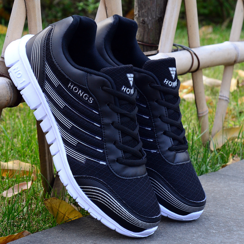 2019 Fashion Sneakers Shoes Mesh Breathable Casual Shoes Men Flat Outdoor Mesh Shoes Breathable Sneakers Training Walking Shoes