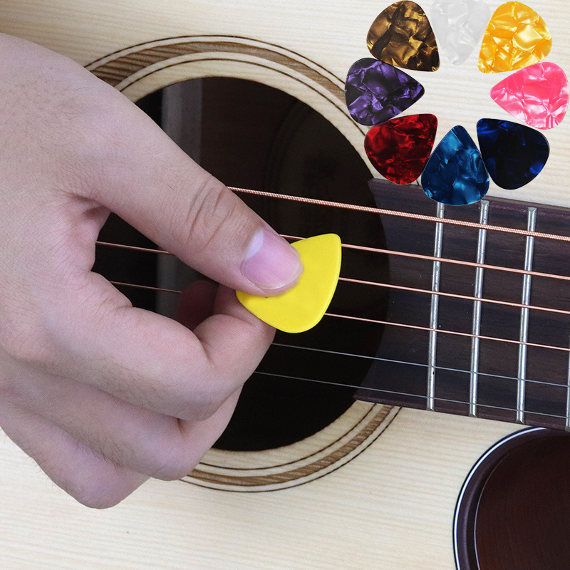 10pcs/lot Mediator Guitar Picks For Acoustic Electric Bass Pic Plectrum Musical Instruments Thickness 0.46 - 0.96mm Random Color