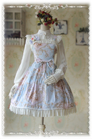 2016 New Arrival Lolita Dresses Party Floral Printed Sweet Girls Lolita Dress for Summer