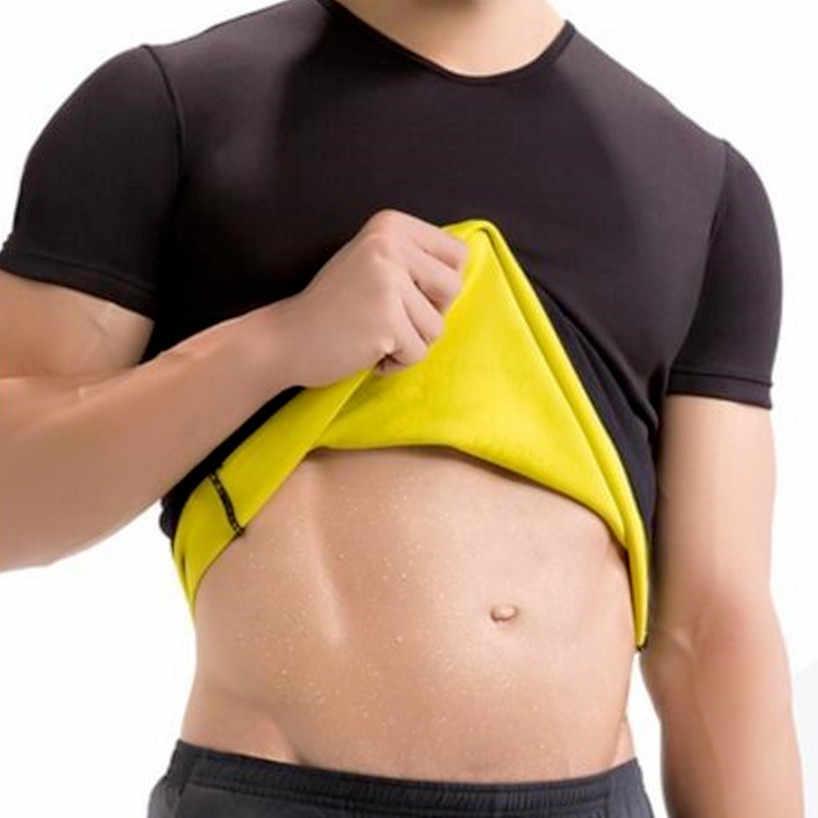 Новинка, натуральный топ из неопрена для похудения, тренировка, Корректирующее белье для тела, футболка для мужчин, пот, больше жира, сжигание талии, тренажер для тренировки тела