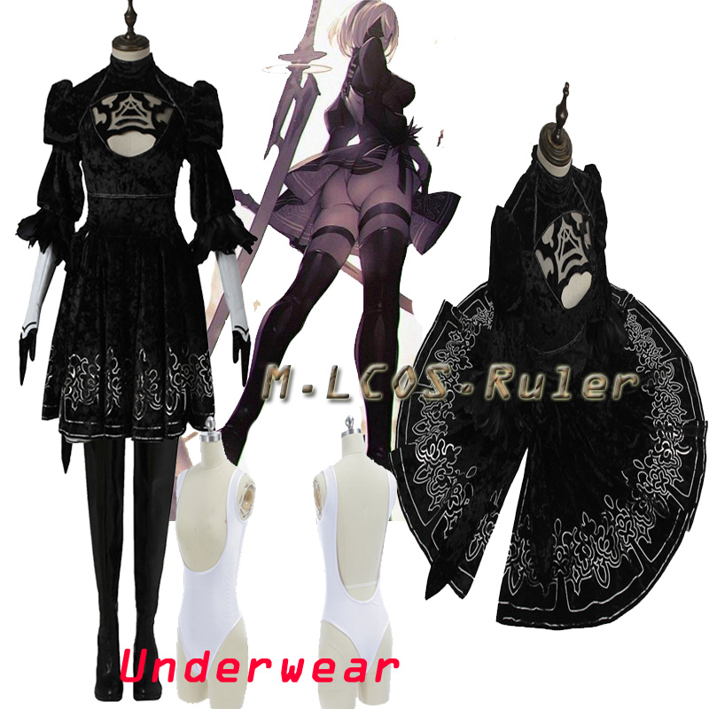 NieR:Automata YoRHa No. 2 Type B Cosplay Costume Women's Size Large in Stocks Any Size Full Set Dress Free Shipping