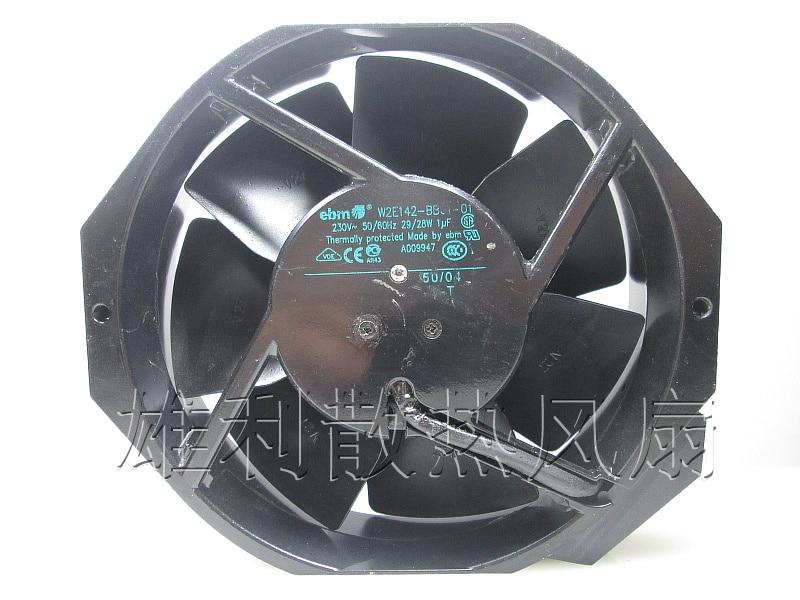 Free Delivery.17238 original W2E142-BB01-01 220V 29 / 28W all-metal cooling fan original ebmpapst17238 230v w2e142 bb01 01 cooling fan