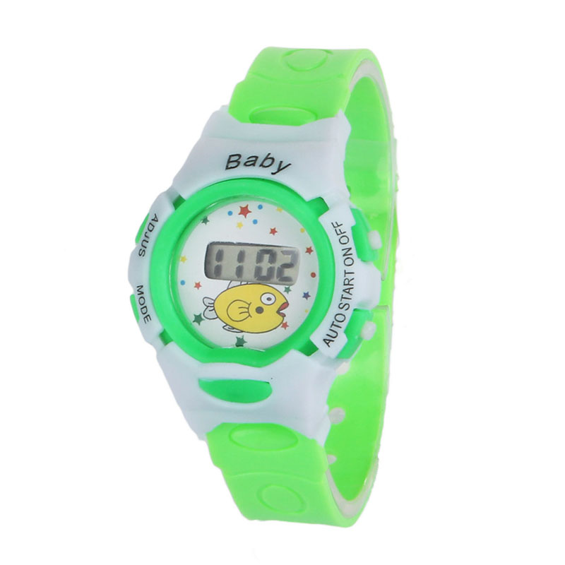 Perfect Gift Boys Girls Students Time Electronic Digital Wrist Sport Watch Green Levert Dropship Nov29 new fashion design unisex sport watch silicone multi purpose date time electronic wrist calculator boys girls children watch