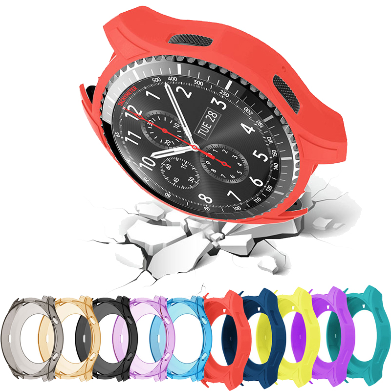 Silicone Case For Samsung Gear S3 Frontier Galaxy Watch 46mm Smart Watch Case Cover Sport Protector Frame Protective Shell