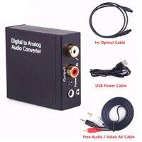 Digitale Coaxiale Toslink Optische naar Analoge L/R RCA Audio Converter Adapter 3.5mm Jack Vrouwelijke naar 3.5mm Jack Mannelijke Audio Adapter