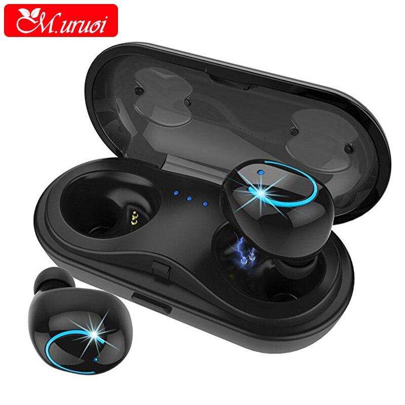 M.uruoi TWS Bluetooth 4.2 Earbuds Mini Wireless Bluetooth Earphone HiFi Stereo Headset Handsfree Earphone For Phone Mini Earbud