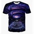2015 el más nuevo galaxy espacio impreso creativo camiseta 3d hombres camiseta de verano de la novedad 3d feminina psicodélico t-shirt ropa