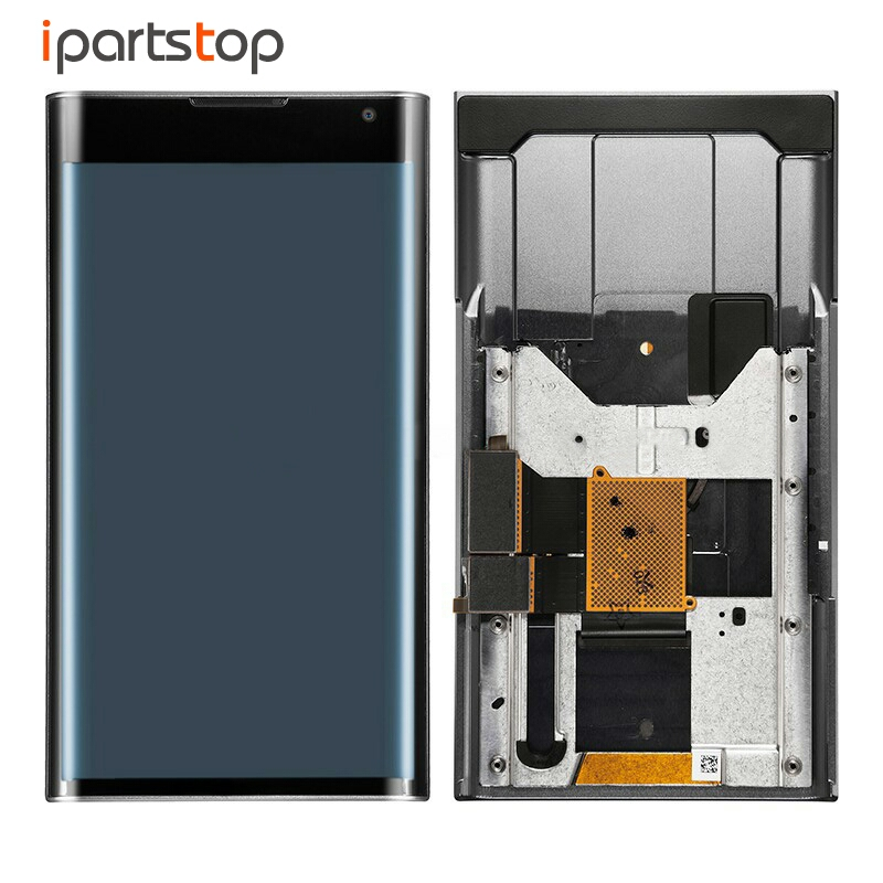 iPartsTop LCD Screen For Blackberry Priv Black Display Touch Digitizer With Front Frame Bezel Housing Assembly Full Test lcd screen assembly for apple iphone 4 4g lcd display touch screen digitizer pantalla with frame bezel replacement black white