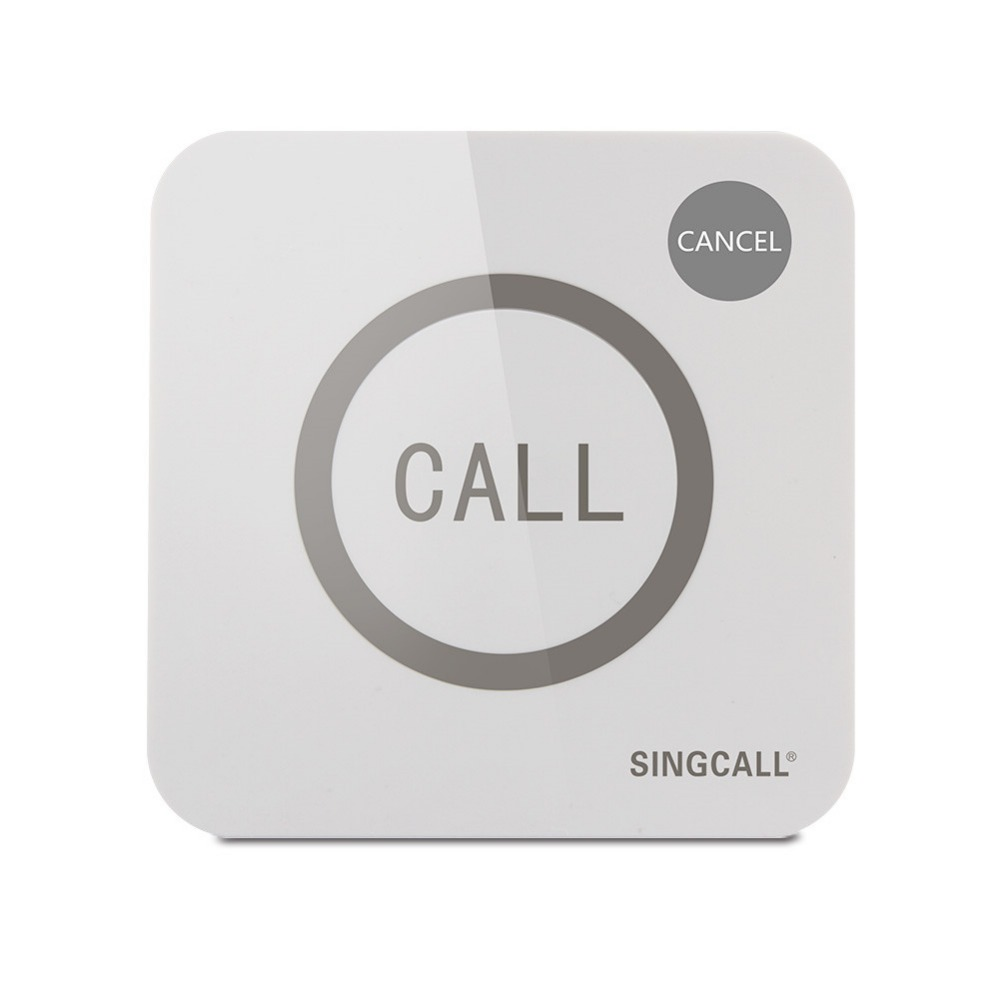 SINGCALL Wireless Calling System, call bell, Big Touchable Two Buttons with Waterproof Function,Call and Cancel Keys,APE520C