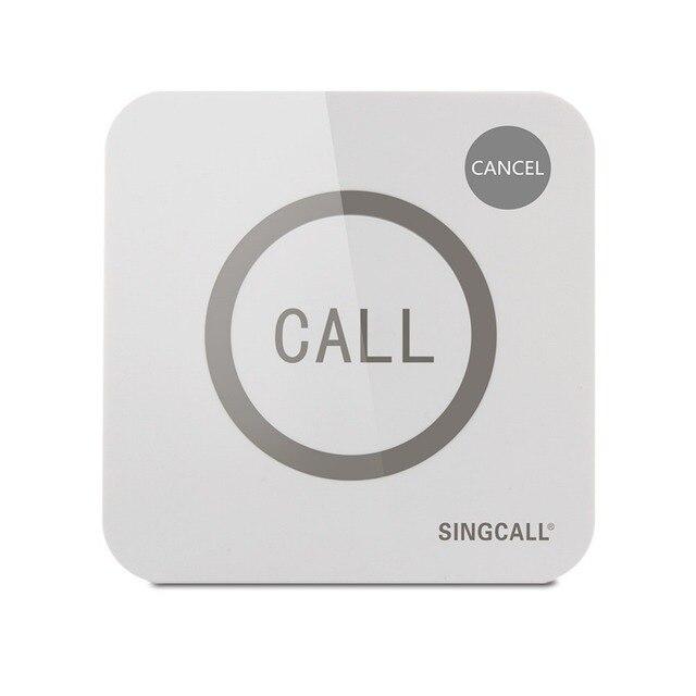 Singcallワイヤレス通話システム、コールベル、ビッグ触れることができる2ボタン防水機能、コールとキャンセルキー、APE520C