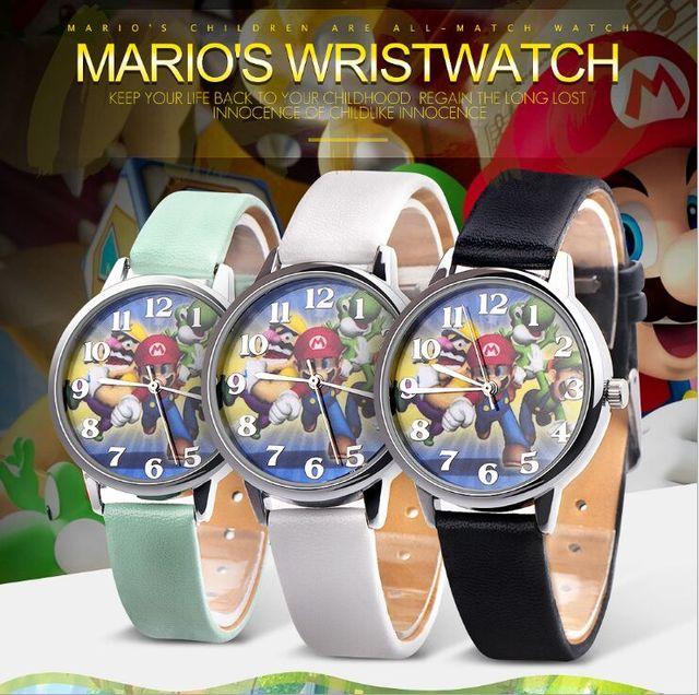 2018 Ladies super mario watch Quartz Kids Sports fashion cartoon Watch Wristwatch Boy Students Christmas Relogio gift watch