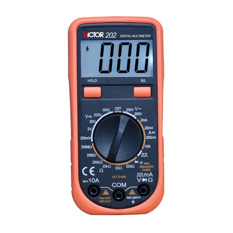 VICTOR 202 high quality Portable Handheld  multimeter Digital AC/DC Multimeter  цены