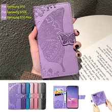 For Samsung Galaxy S10 Plus Case Leather Vintage Phone Cases On Flip Wallet Hoesje S10e Cover