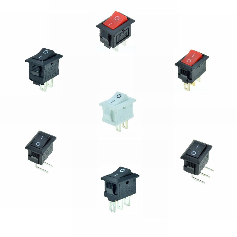 Car Rocker Switch 3A 250VAC/6A 125VAC 12V 2Pins 3Pins 2 Positions ON/OFF ON/ON SPST SPDT 13x9mm Hole Boat Switch Red Black WhiteCar Rocker Switch 3A 250VAC/6A 125VAC 12V 2Pins 3Pins 2 Positions ON/OFF ON/ON SPST SPDT 13x9mm Hole Boat Switch Red Black White