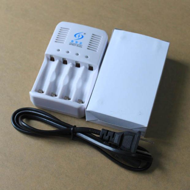 1.6V NiZn 1.2V NiMH AA AAA battery universal intelligent charger, with LED converter lamp