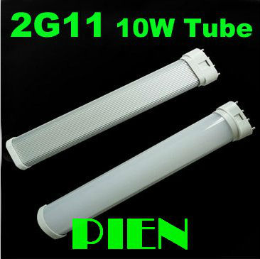 Led tube bulb 2G11 SMD 2835 10W PL tube light  230mm high Power Fluorescent 60W replacement 110V 220V CE&ROHS by DHL 50pcs/lot 9w 10w smd led pl tube pl energy savin lamp 850lm ac100 240v clear
