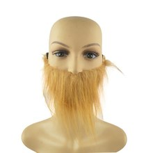 Fake Mustaches Adult Men Beard Brown Halloween Mustache Festival Party Cosplay Costume Accessories Supplies