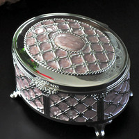 Jewelry Ring Box Jewelry Gifts Package Box Jewelry Storage Small Size Metal Case jewelry Storage Joyeros Organizador de joyas