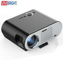 GP90 Vivibright Proyector LED Mini Proyector de Cine En Casa 3200 Lúmenes 1280×800 Película de Cine USB Vídeo Full HD WXGA 720 P HDMI VGA