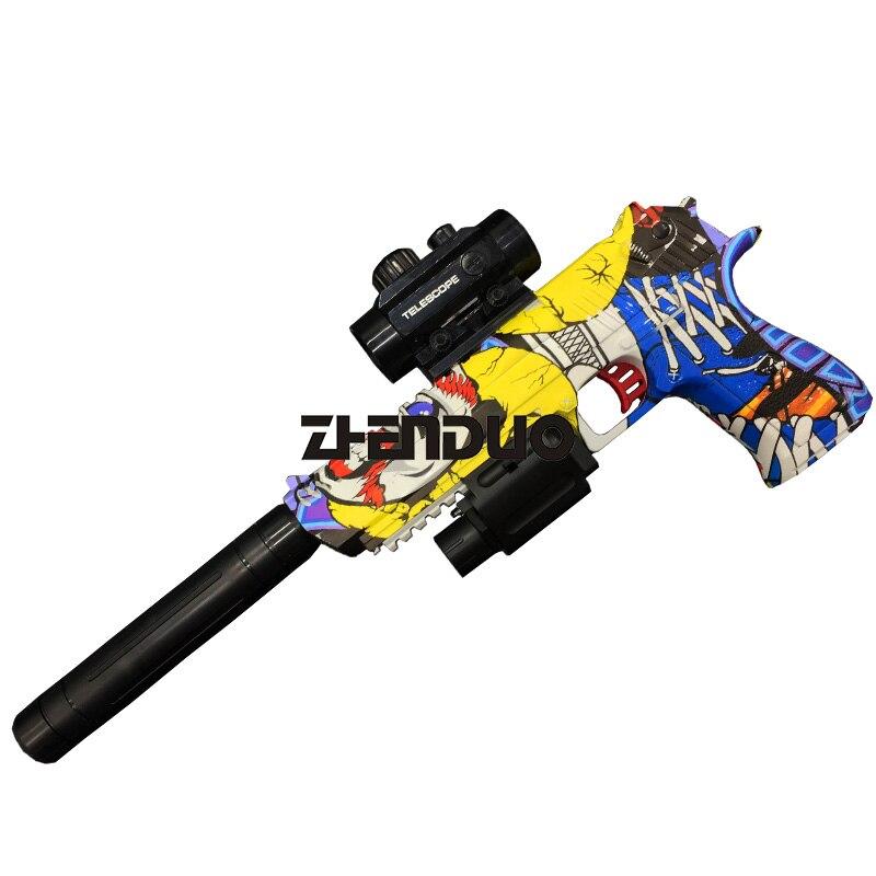 Zhenduo Jouet Desert Eagle Électrique Simulation Pistolet Lumière Vibrations De Projection Huit-ton Enfant Modèle Pistolet - 2