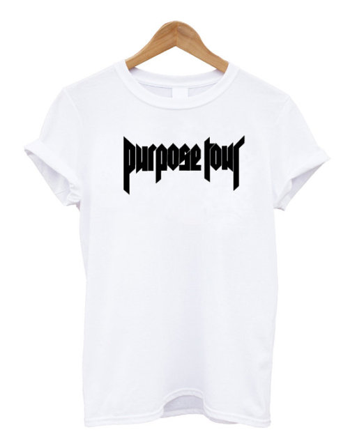 Resultado de imagen de 2015 New Women Tshirt Justin Bieber Purpose Tour Letter Print Cotton Casual Funny Shirt For Lady White Top Tee Hipster