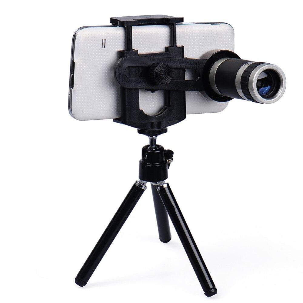 imágenes para Orbmart 8X Lente Zoom Telescopio Del Teléfono Móvil Con Mini Sostenedor Del Trípode Para iphone 5s 6 6 s plus samsung s6 s5 note 5 4 xiaomi Doogee