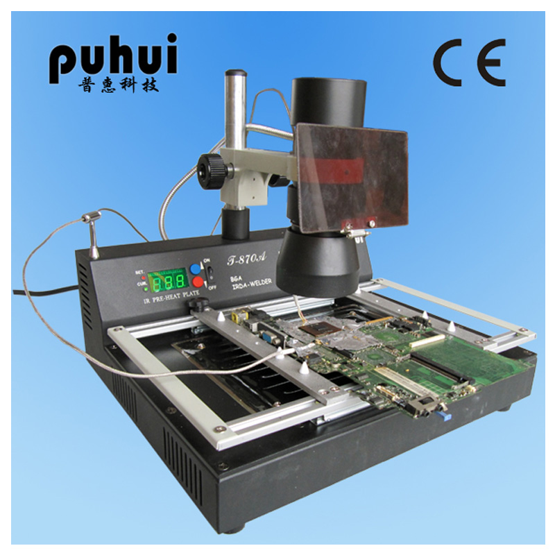 Electric Soldering Irons Puhui T-870a Bga Notebook Rework Station Irda Soldering Welder Infrared Light Smt Smd 1000w