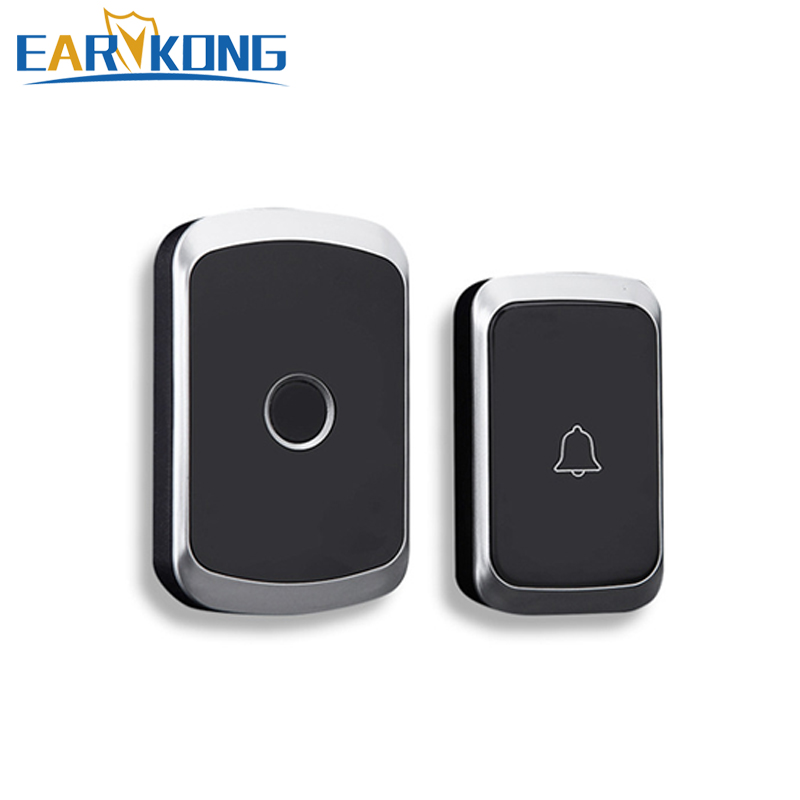 Intelligent Wireless <font><b>Doorbell</b></font> Home Welcome <font><b>Doorbell</b></font> Waterproof 300m <font><b>Remote</b></font> smart Door Bell Chime EU UK US Plug Optional image