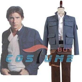 Adult Men Star Empire Strikes Back Han Solo Cosplay Costume Full Set For Halloween Carnival