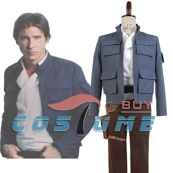 Adulte Hommes Star Wars Costume Star Wars: Empire Strikes Back Han Solo Cosplay Costume Ensemble Complet Pour Halloween Carnaval