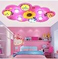 Luzes da sala das crianças meninos e meninas quarto lâmpada LED teto luz criativa dos desenhos animados beetle crianças iluminação da sala