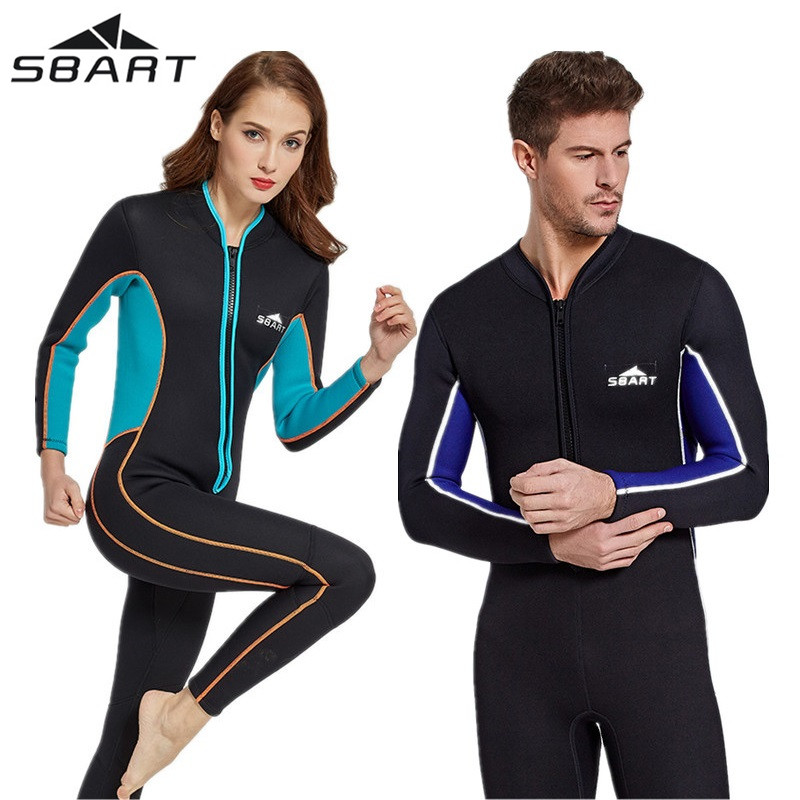 Neoprene 3MM Scuba Diving Wetsuit Lovers Wet Suit Equipment Snorkeling Men Womens Long Sleeve Diving Suit Spearfishing Swimsuit