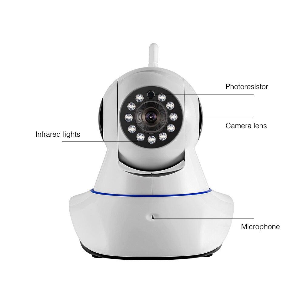 High Quality HD Wireless IP Camera 720P HD Wireless IP Camera Night Vision Audio Recording Network Indoor Camera fpv 1 2ghz 100mw 4ch wireless audio