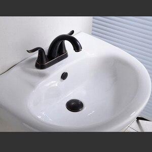 Image 5 - Pirinç Pop Up lavabo tahliye tapası taşma, itme ve conta takımı için banyo bataryası gemi Vanity havzası