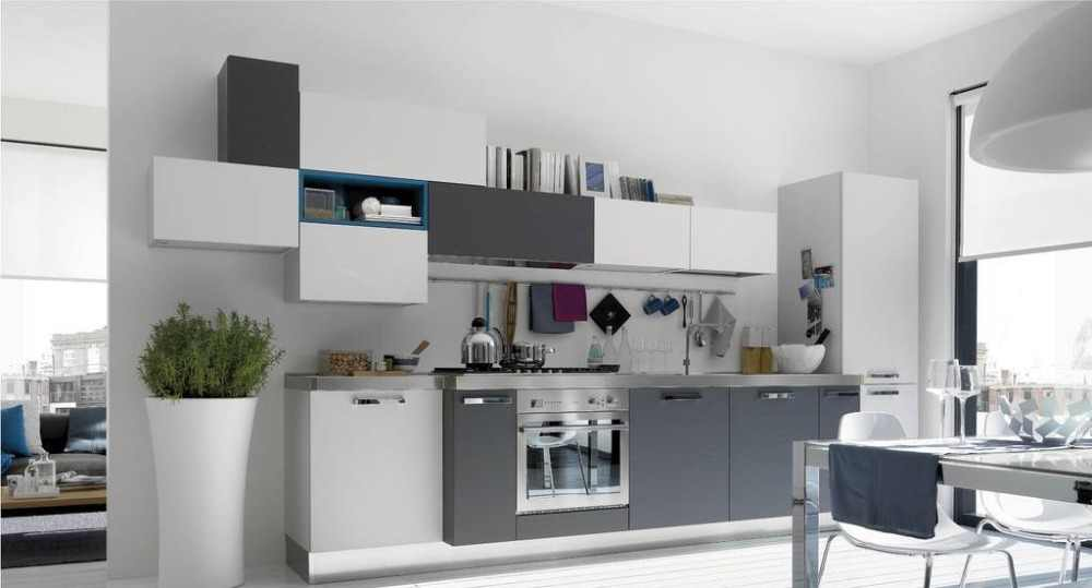 Серый плоской кисти для век кухонный набор
