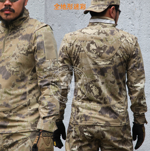CHIEFS Markings Camouflage Long Sleeve T-Shirt Men Tactical Hunting Clothes Military Hiking Airsoft Wargame Soprtswear Gear