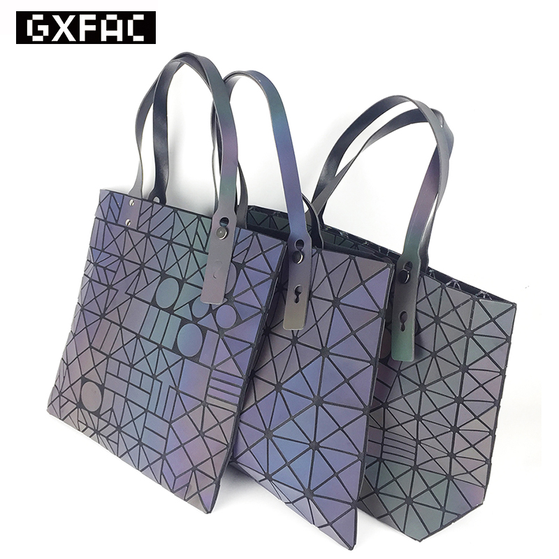 BaoBao Bags 2017 Women Bucket Bag Geometry Sequins Mirror Saser Plain Folding Sh