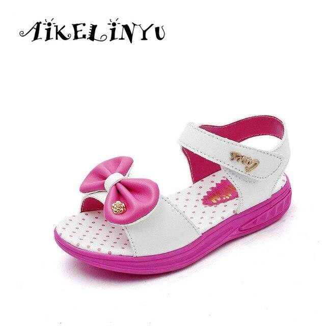 b15195a8 2019 zapatos de verano para niñas sandalias de princesa para niñas sandalias  de playa con moño
